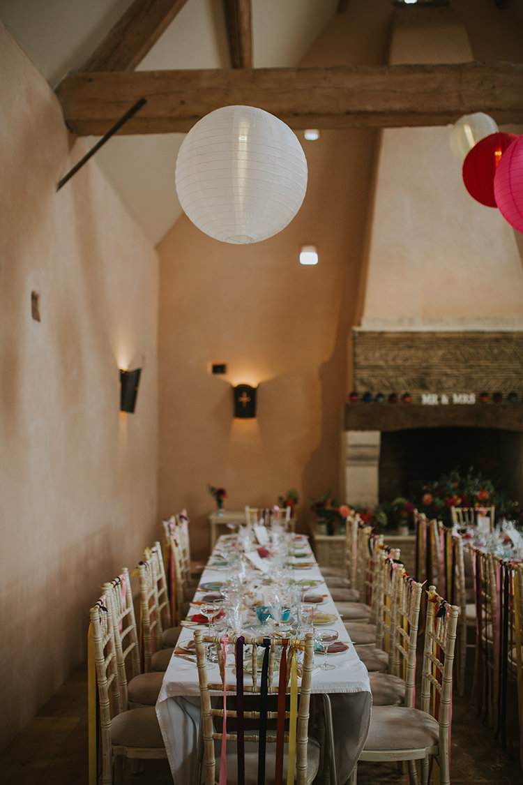 Long Tables Decor Colourful Quirky Down To Earth Wedding http://jenmarino.com/
