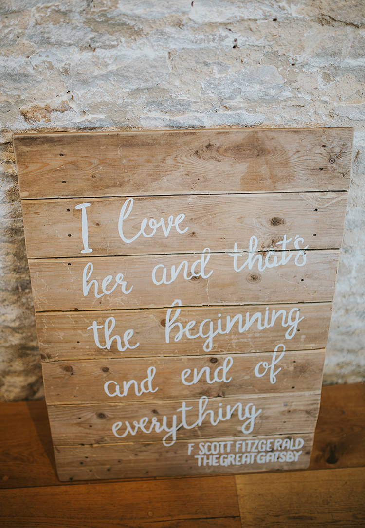 Rustic Wooden Sign Love Quote Words Colourful Quirky Down To Earth Wedding http://jenmarino.com/