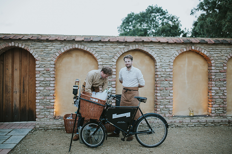 Travelling Gin Company Bicycle Drinks Colourful Quirky Down To Earth Wedding http://jenmarino.com/