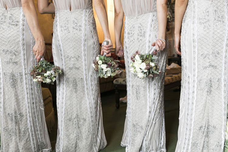 Gina Bacconi Bridesmaids Sequin Grey Silver Gorgeously Glam New Years Eve Wedding http://www.photographybykrishanthi.co.uk/