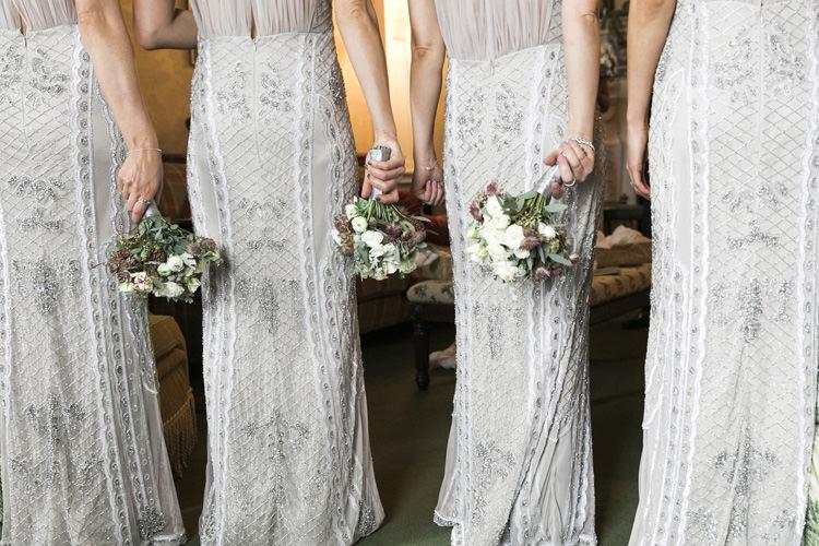 Gina Bacconi Bridesmaids Sequin Grey Silver Gorgeously Glam New Years Eve Wedding http://www.photographybykrishanthi.co.uk/