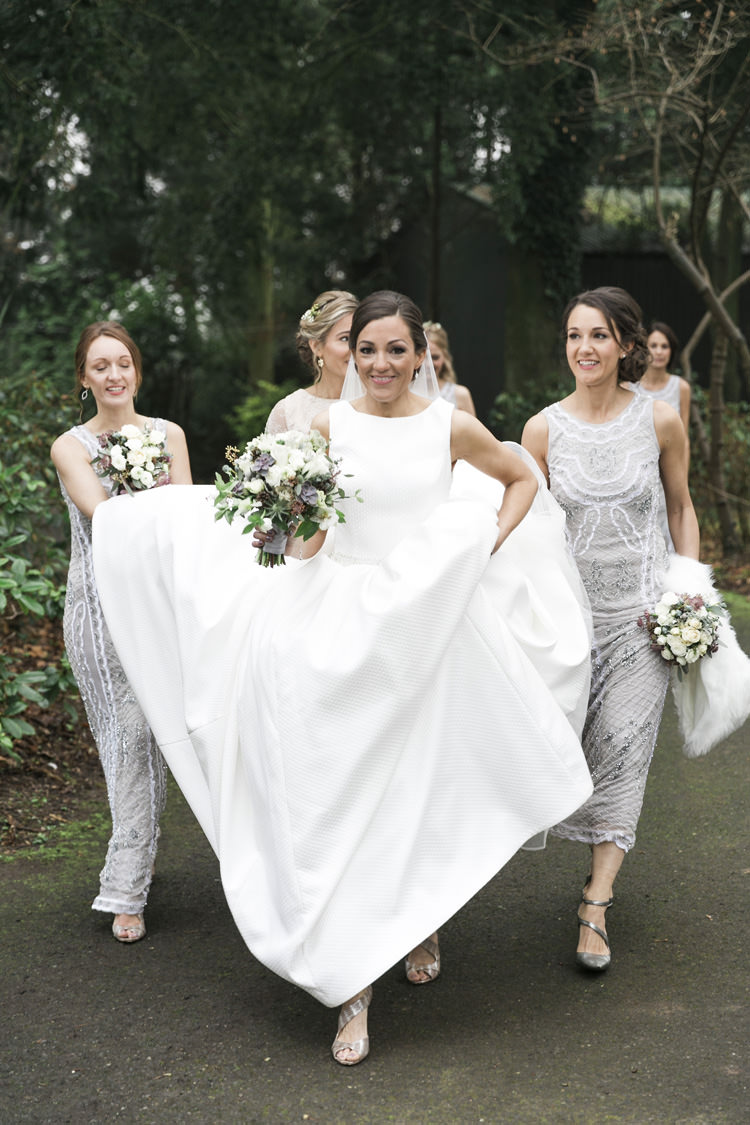 Bride Bridal Pronovias Gown DressGrey Silver Sequin Bridemaids Gorgeously Glam New Years Eve Wedding http://www.photographybykrishanthi.co.uk/