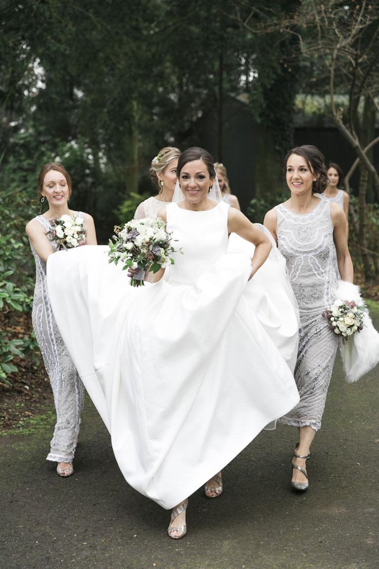 Bride Bridal Pronovias Gown DressGrey Silver Sequin Bridemaids Gorgeously Glam New Years Eve Wedding http://www.photographybykrishanthi.co.uk/