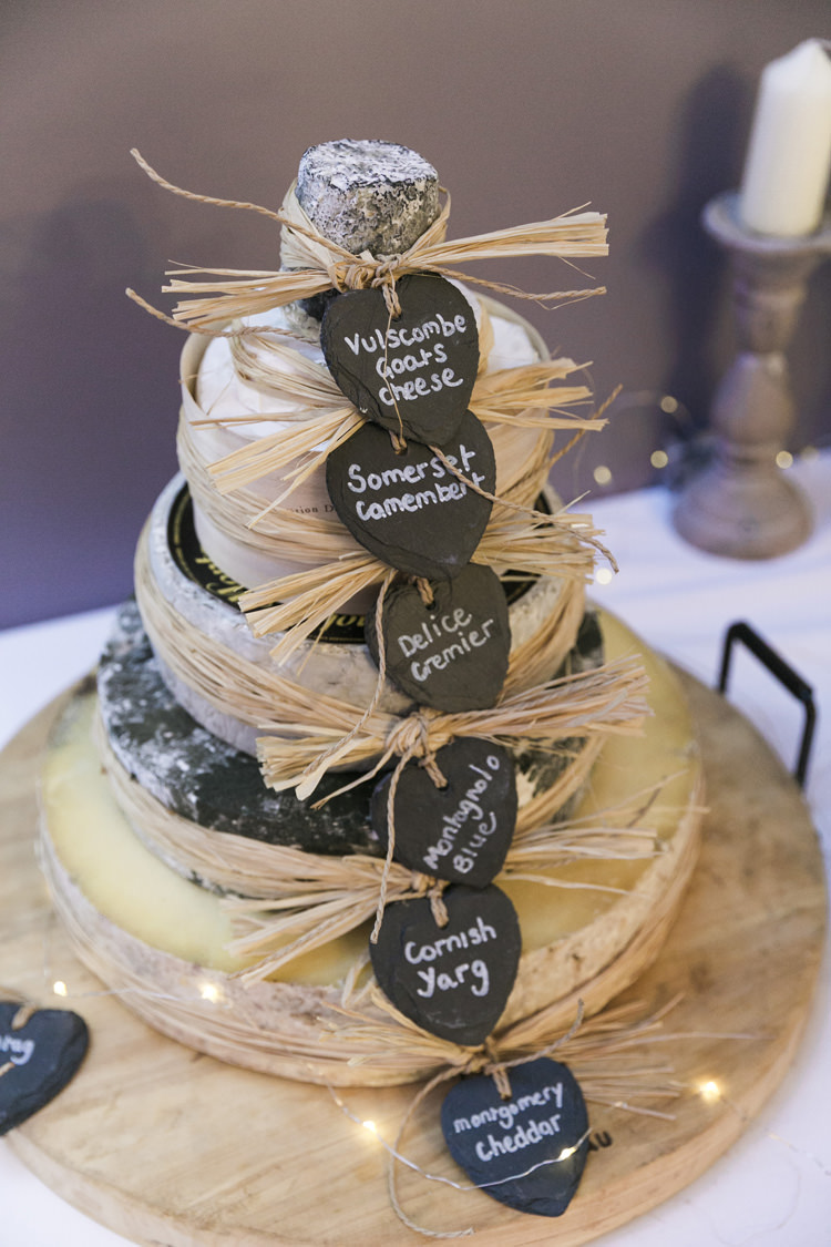 Cheese Cake Tiered Blackboard Raffia Gorgeously Glam New Years Eve Wedding http://www.photographybykrishanthi.co.uk/