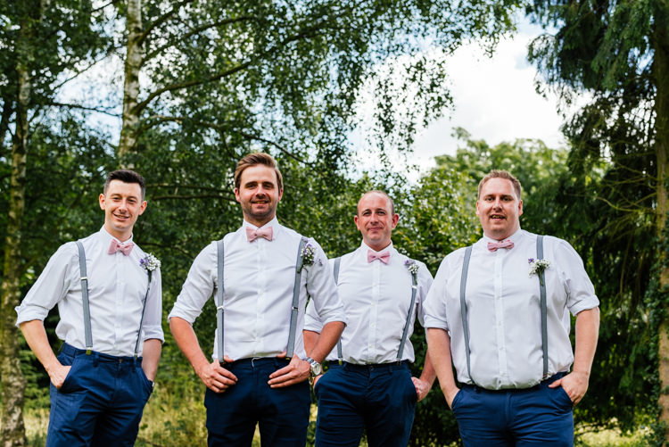 Bow Tie Braces Groom Groomsmen Fun Loving Secret Garden Tipi Wedding https://www.aaroncollettphotography.co.uk/