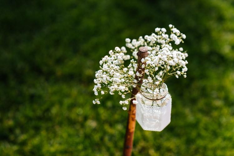 Gyp Gypsophila Jar Flowers Fun Loving Secret Garden Tipi Wedding https://www.aaroncollettphotography.co.uk/