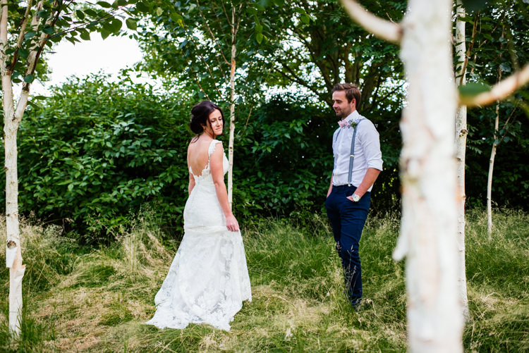 Low Back Lace Dress Gown Bride Bridal Fun Loving Secret Garden Tipi Wedding https://www.aaroncollettphotography.co.uk/