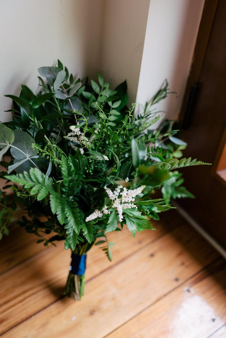 Greenery Foliage Bouquet Flowers Bride Bridal Ferns Eucalyptus Astilbe Industrial Glam Marquee Wedding http://www.stottandatkinson.com/