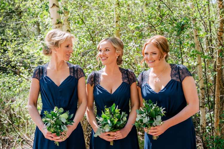 Navy Blue Bridesmaid Dresses Industrial Glam Marquee Wedding http://www.stottandatkinson.com/
