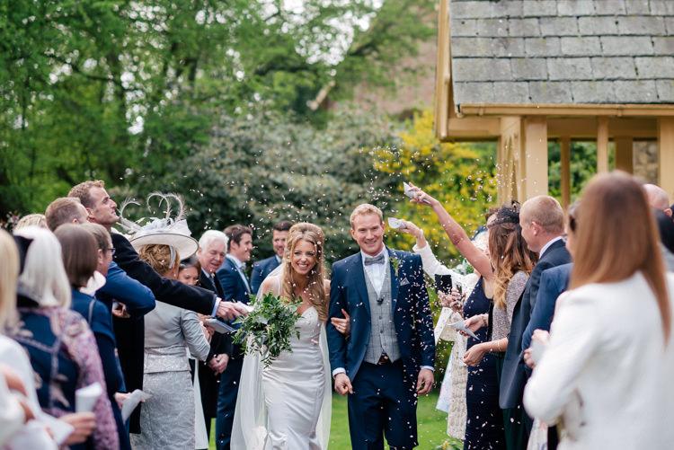 Confetti Throw Bride Groom Industrial Glam Marquee Wedding http://www.stottandatkinson.com/