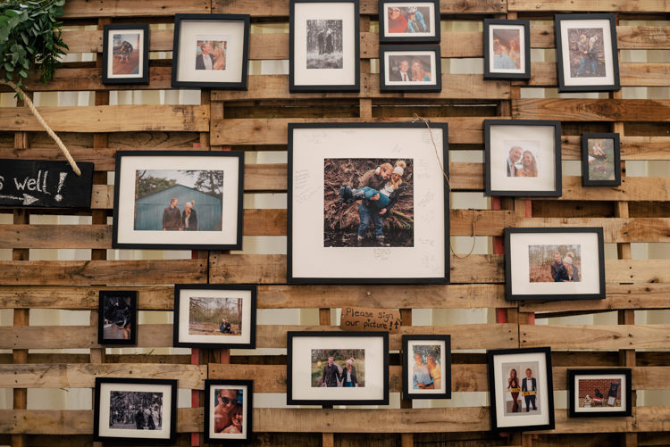 Photo Wall Wooden Pallet Industrial Glam Marquee Wedding http://www.stottandatkinson.com/