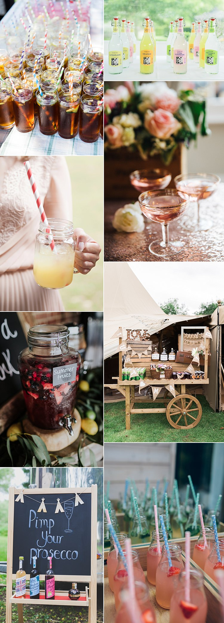 Summer Wedding Ideas Drinks Cocktails Stand Bar Prosecco