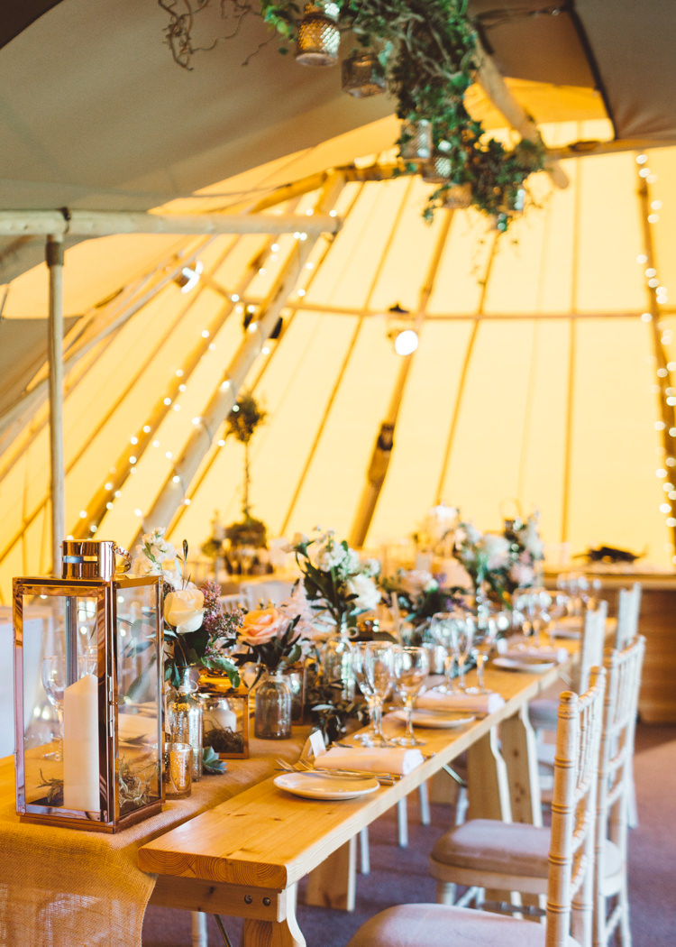 Elegant Unique Pale Pink Tipi Wedding http://holliecarlinphotography.com/