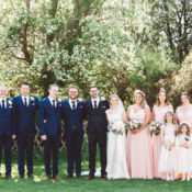 Elegant & Unique Pale Pink Tipi Wedding