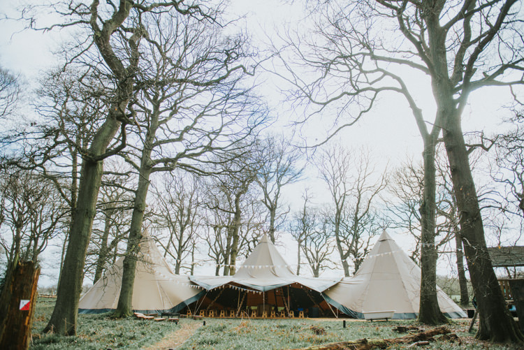 Tipi Woods Bunting Magical Cosy Forest Tipi Wedding http://katewatersphotography.com/