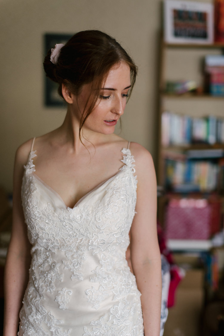 Bride Bridal Gown Dress Champagne Embroidery Sleeveless Maggie Sottero Magical Cosy Forest Tipi Wedding http://katewatersphotography.com/