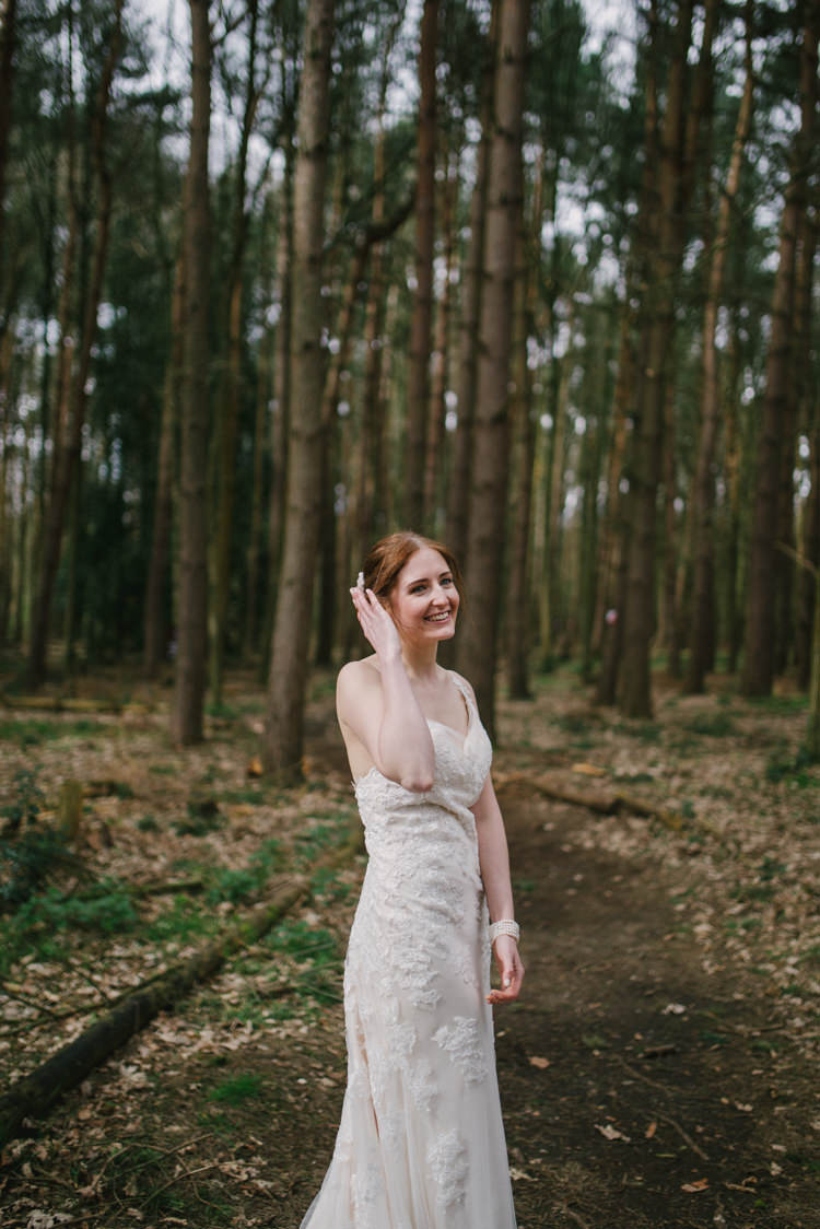 Bride Bridal Gown Dress Sleeveless Champagne Overlay Magical Cosy Forest Tipi Wedding http://katewatersphotography.com/