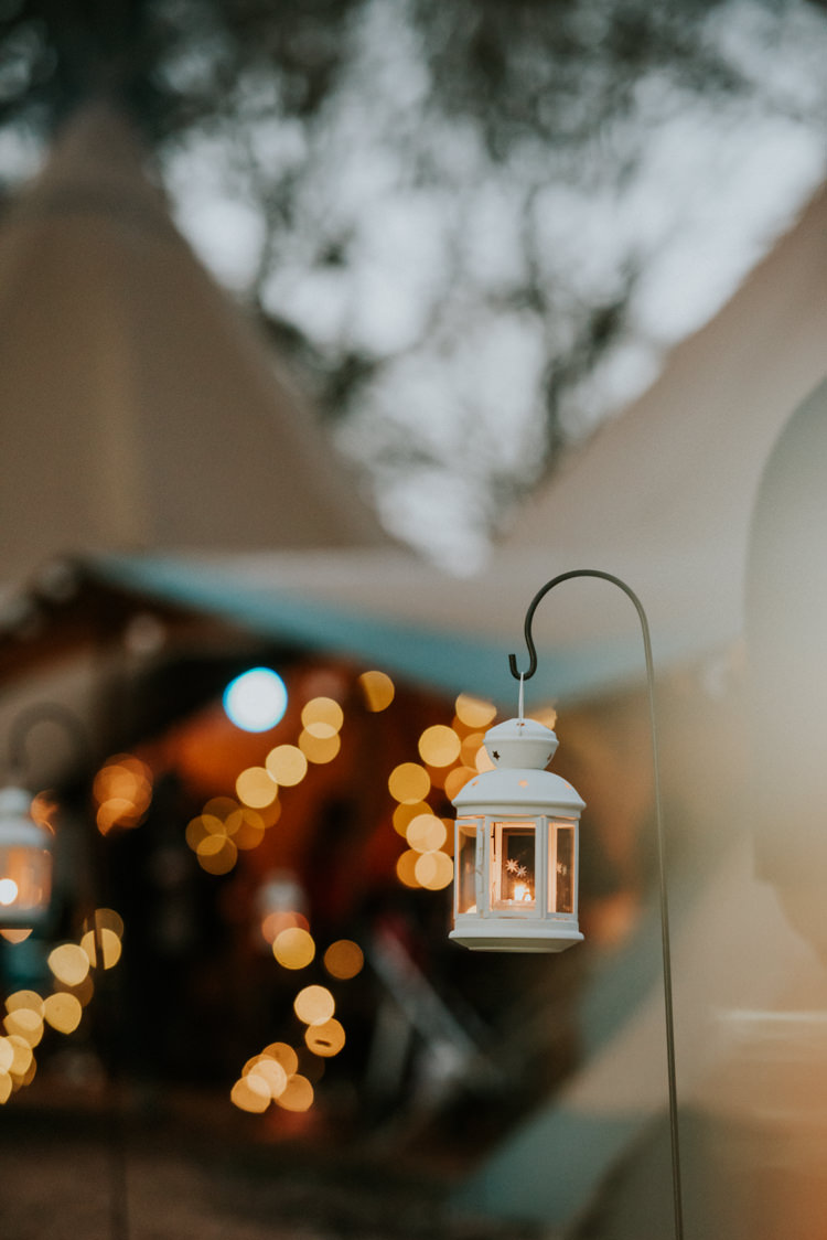 Shepherds Crook Lanterns Tealights Magical Cosy Forest Tipi Wedding http://katewatersphotography.com/