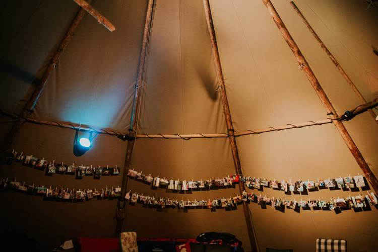 Photographs Photos Peg Strings Decor Details Magical Cosy Forest Tipi Wedding http://katewatersphotography.com/