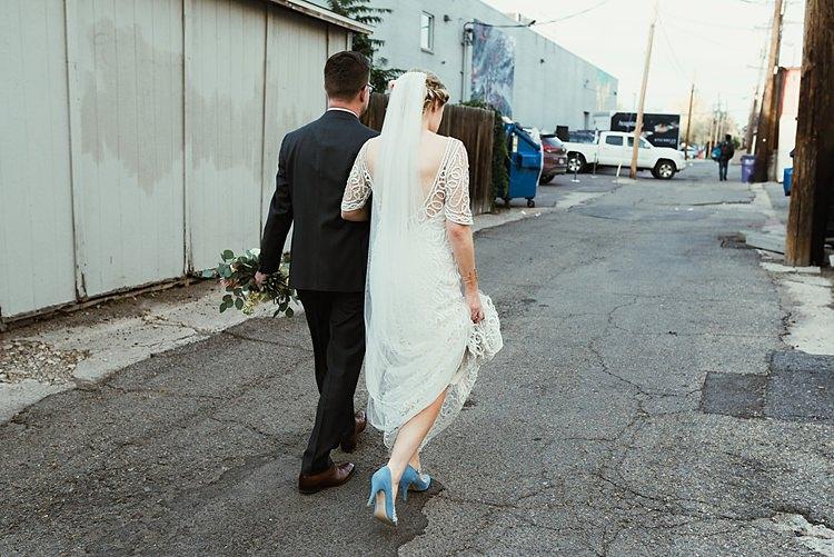 Hip Art Gallery Wedding Colorado http://www.lisarundallphotography.com/