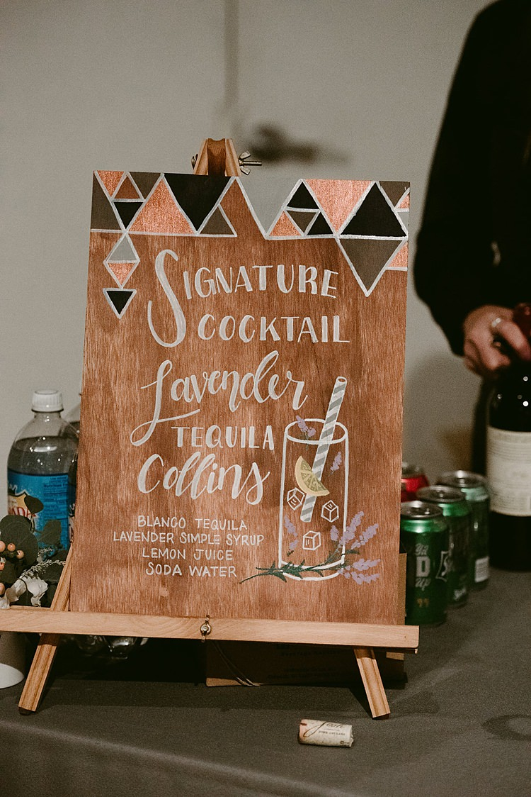 Geometric Wooden Painted Sign Calligraphy Hip Art Gallery Wedding Colorado http://www.lisarundallphotography.com/