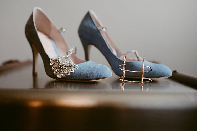 Blue Shoes Bride Bridal Vintage Embellished Hip Art Gallery Wedding Colorado http://www.lisarundallphotography.com/