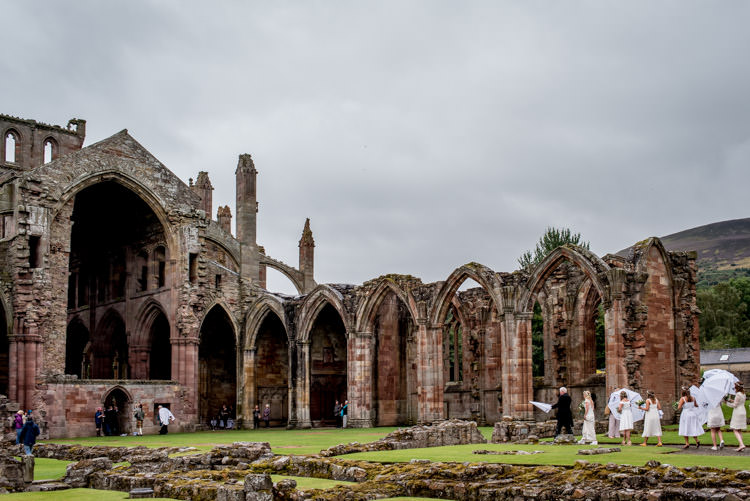 Melrose Abbey Ceremony Hippy Festival Travel Wedding http://www.mattbadenoch.com/