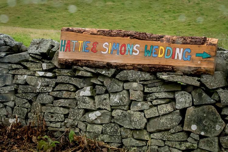 Painted Wooden Sign Post Hippy Festival Travel Wedding http://www.mattbadenoch.com/
