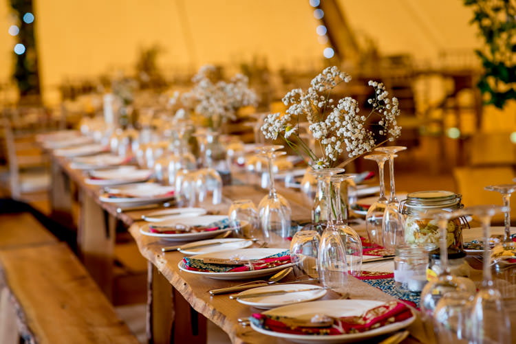 Rustic Long Tables Tipi Hippy Festival Travel Wedding http://www.mattbadenoch.com/