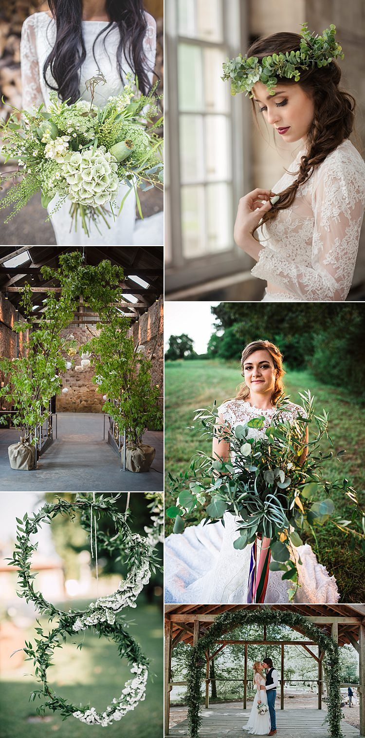 Greenery Pantone 2017 Wedding Flower Trends Bouquets Ideas Inspiration
