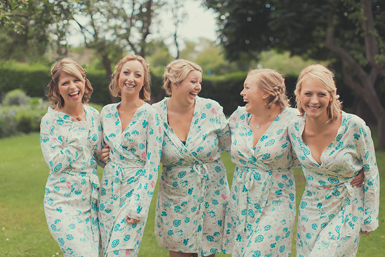 Floral Dressing Gowns Bride Bridesmaids Whimsical Countryside Yurt Wedding http://jamesgreenphotographer.co.uk/