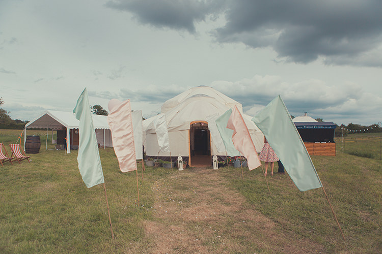 Festival Flags Decor Whimsical Countryside Yurt Wedding http://jamesgreenphotographer.co.uk/