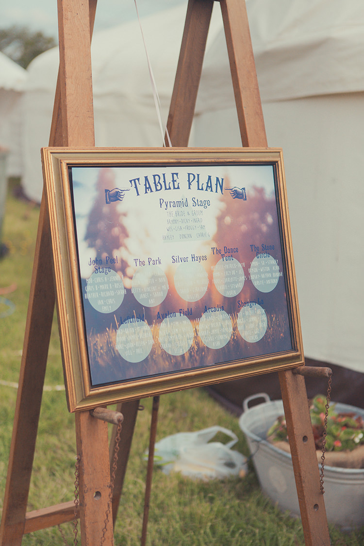 Festival Frame Seating Plan Table Chart Whimsical Countryside Yurt Wedding http://jamesgreenphotographer.co.uk/