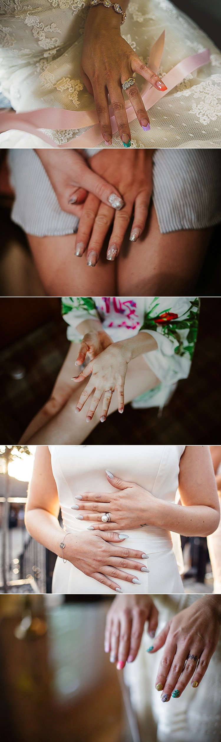 Wedding Bridal Bride Nails Art Ideas