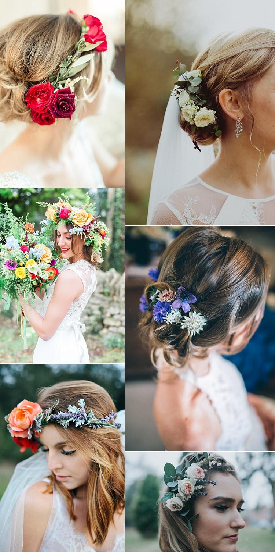 Hair Bride Bridal 2017 Wedding Flower Trends Bouquets Ideas Inspiration