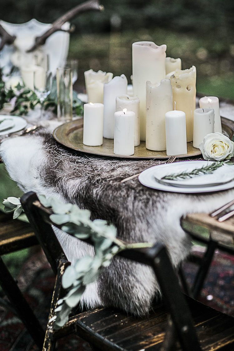 Candles Lighting Bohemian Macramé Woodland Wedding Ideas https://samieleephotography.com/