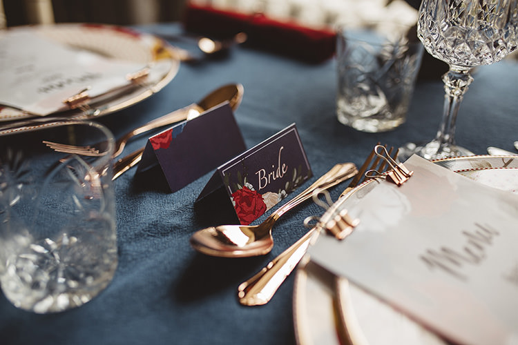 Floral Place Name Card Dutch Masters Wedding Inspiration https://www.kindredphotography.co.uk/