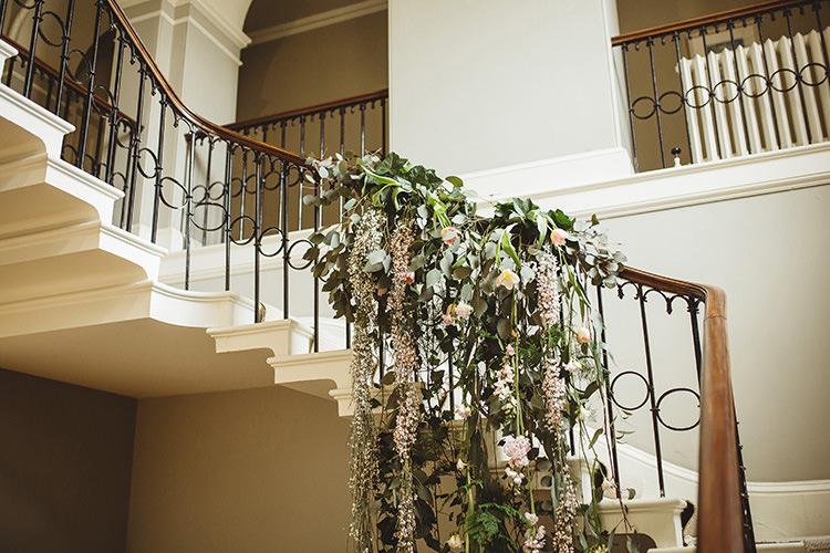Stair Case Flowers Decor Dutch Masters Wedding Inspiration https://www.kindredphotography.co.uk/