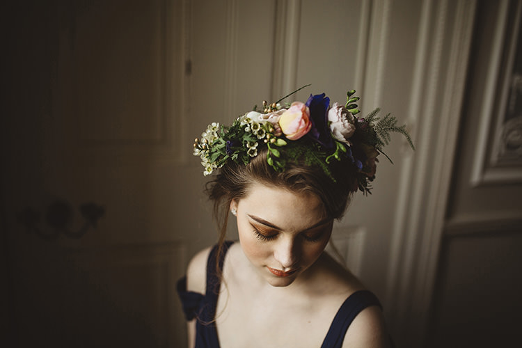 Flower Crown Bride Bridal Dutch Masters Wedding Inspiration https://www.kindredphotography.co.uk/