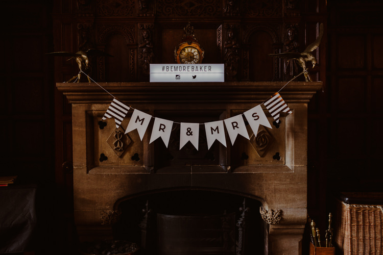 Lightbox Instagram Hashtag Sign Mr & Mrs Bunting 1920s Speakeasy Country House Glamour Wedding https://www.bearscollective.com/