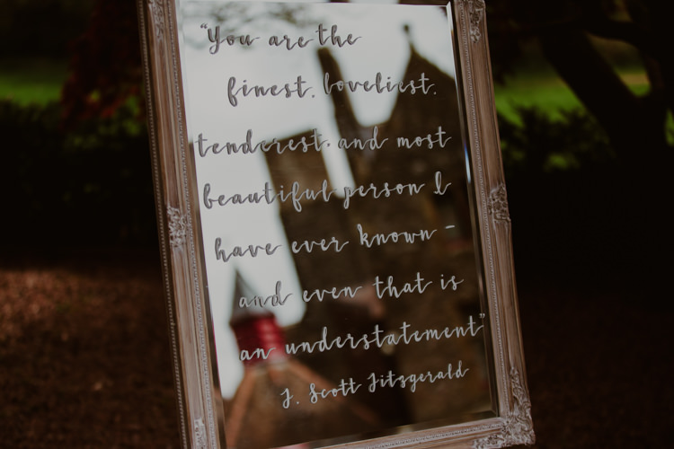 Handwritten Mirror Sign DIY 1920s Speakeasy Country House Glamour Wedding https://www.bearscollective.com/