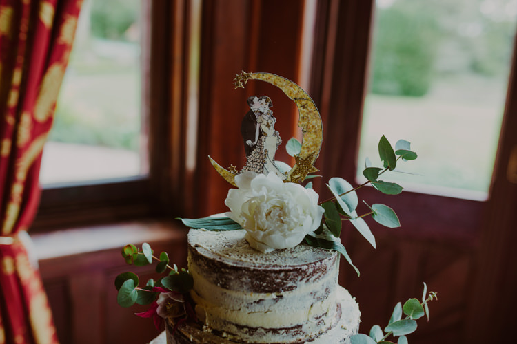 Naked Cake Topper Paper Moon Peony 1920s Speakeasy Country House Glamour Wedding https://www.bearscollective.com/