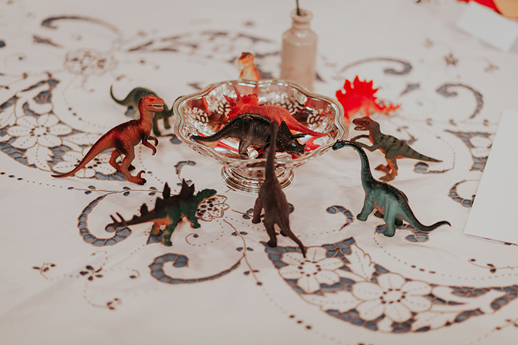Decor Table All The Colours Quirky Dinosaur Wedding https://leahlombardi.com/