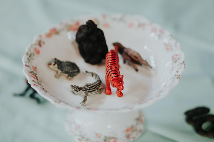 Toys Animals Centrepiece Decor All The Colours Quirky Dinosaur Wedding https://leahlombardi.com/