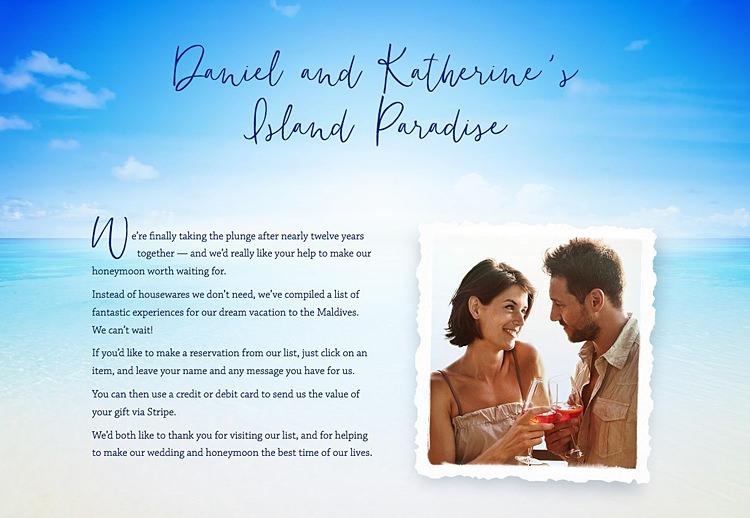 Honeymoon Gift List UK Directory Supplier Wedding Buy Our Honeymoon