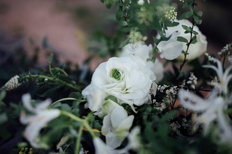 Floral Arrangement Romantic Desert Elopement Ideas http://beginningandendphoto.com/