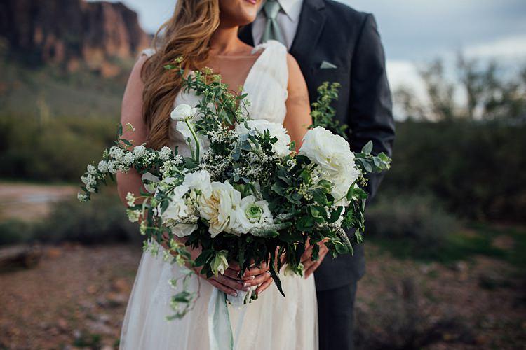 Bride Groom Bouquet Romantic Desert Elopement Ideas http://beginningandendphoto.com/