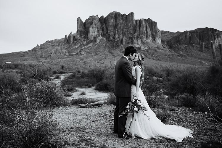 Bride Groom Kiss Romantic Desert Elopement Ideas http://beginningandendphoto.com/