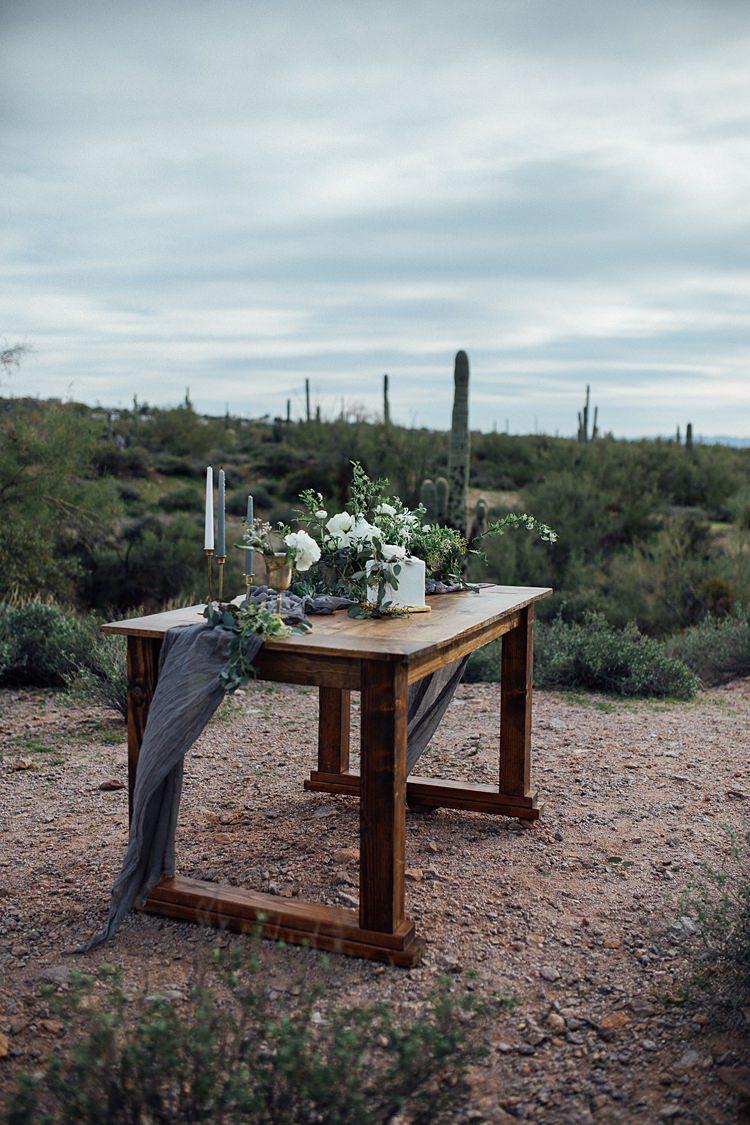 Centrepiece Table Decor Candles Romantic Desert Elopement Ideas http://beginningandendphoto.com/
