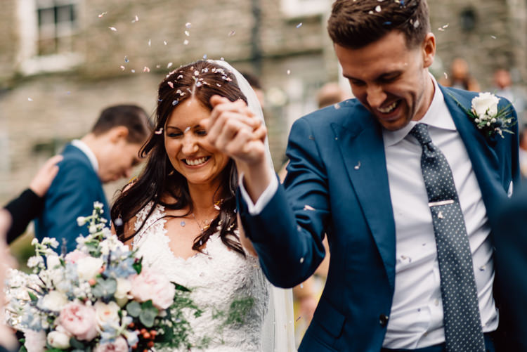 Confetti Throw Delightfully Stylish Spring Wedding in the Lake District http://jamiedunnphotography.com/